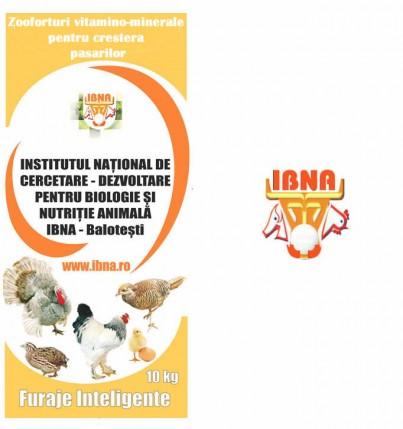 A1 faza 1, Zooforturi vitamino-minerale pentru pui de carne, faza I (1-28 de zile), cu coccid